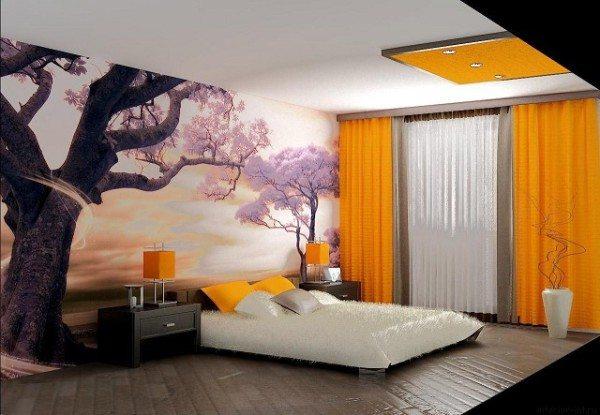 Фото оригинального интерьера спальни