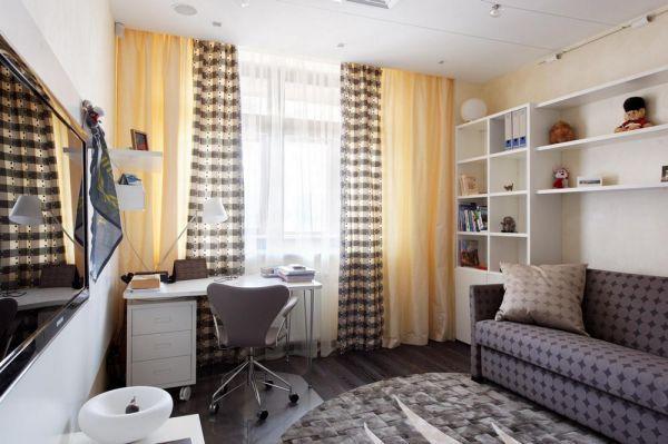 Фото штор в спальне подростка