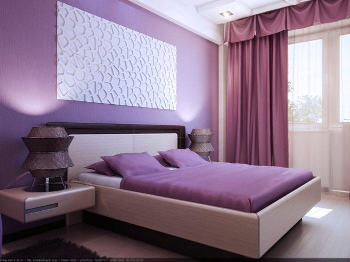 Фото сиреневой спальни