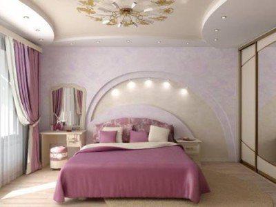 Фото современной комнаты в светло-розовом тоне.
