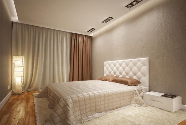 Фото современной спальни – ничего лишнего