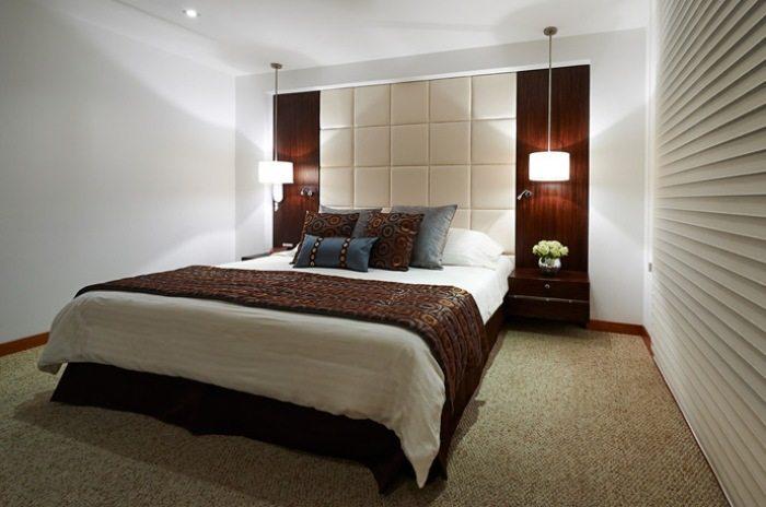 Фото современной спальни без окна.