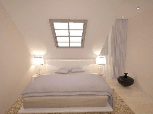 Фото спальни на мансарде