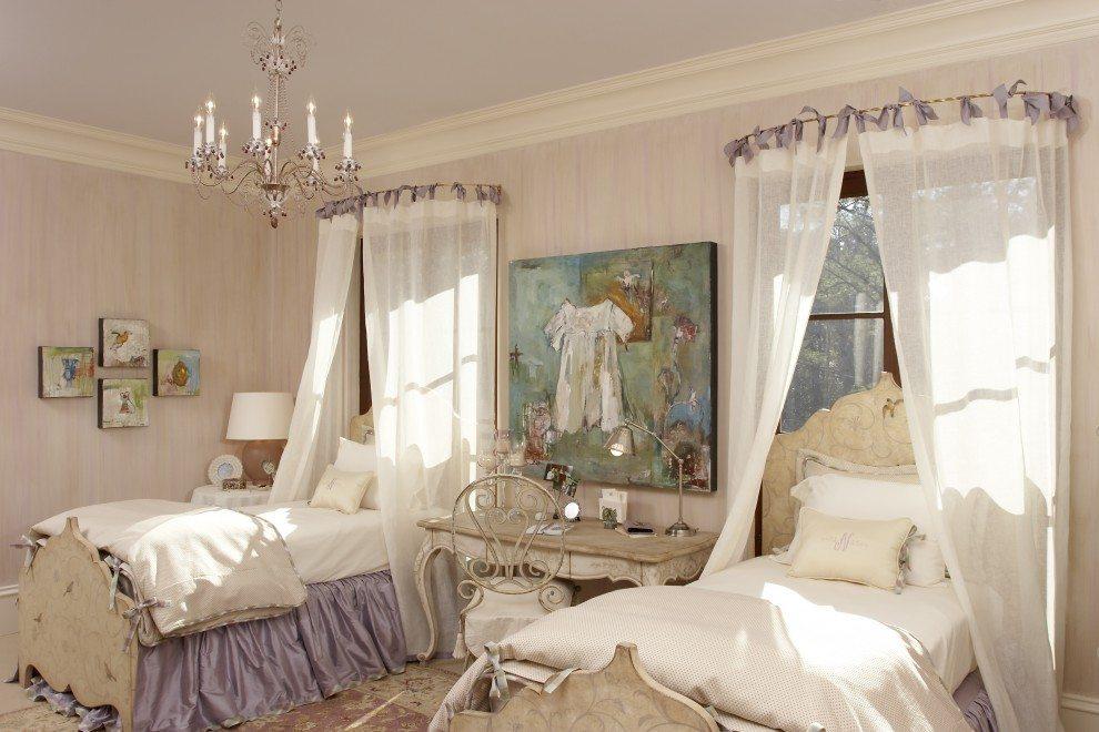 Шторы для спальни прованс фото