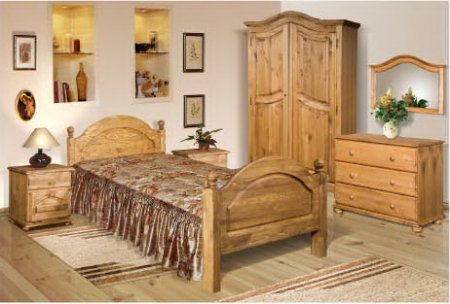 Фото спальни в деревенском стиле