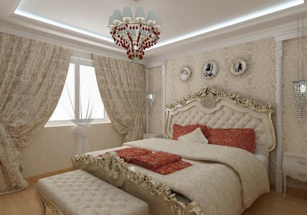 Фото спальни в стиле барокко