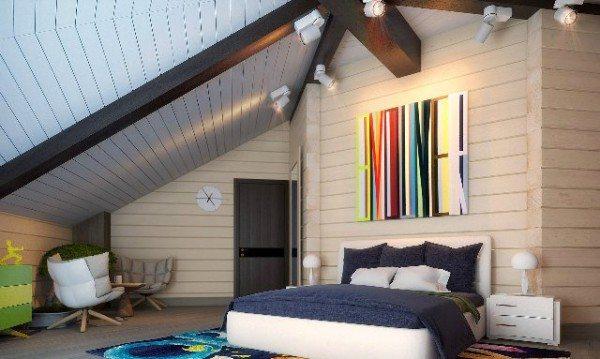 Фото спальни: яркие акценты оживят комнату