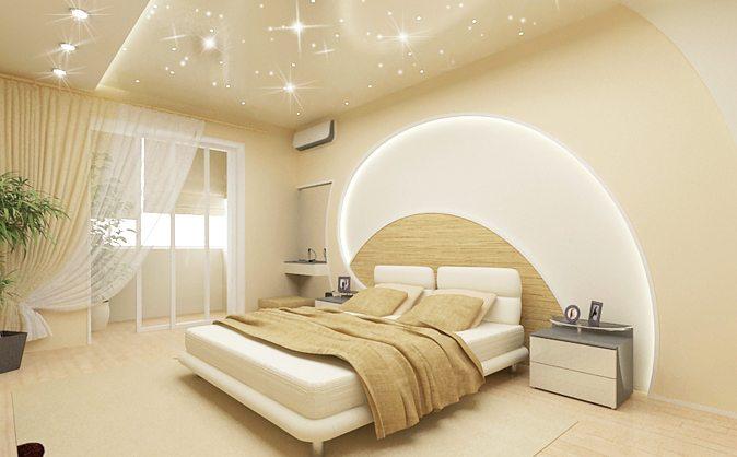 Фото спальной комнаты, созданной в современном образе.