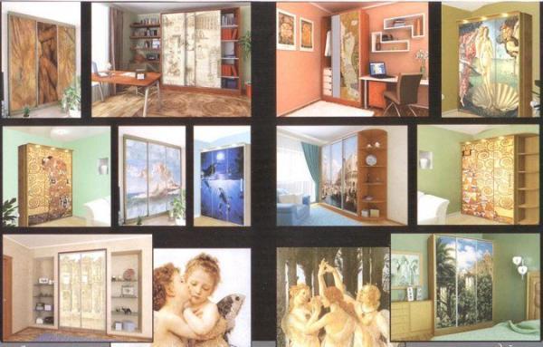 Фрески на шкафах-купе