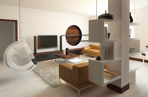 Гипсокартонные конструкции в декоре гостиной
