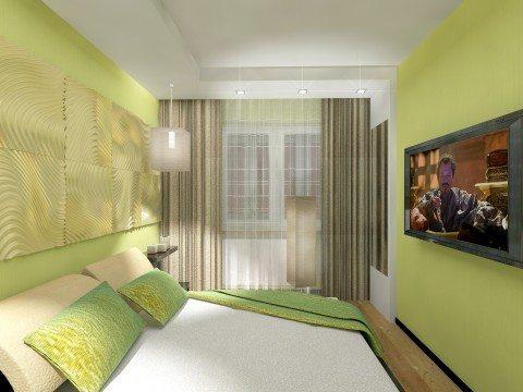 Спальня в салатовых тонах фото