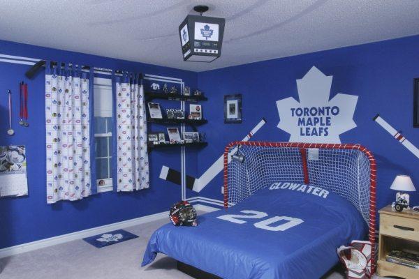 Дизайн детской комнаты хоккеиста