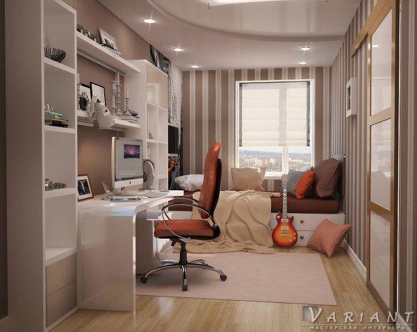Интерьер комнаты молодого человека.