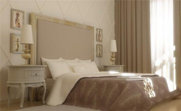 Интерьер комнаты: очень удачно подобрана отделка в тон штор.