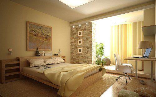 Интерьер просторной спальни