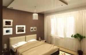 Интерьер спальни 12 кв м не может похвастаться разнообразием, здесь только то, что действительно нужно (фото «А»)
