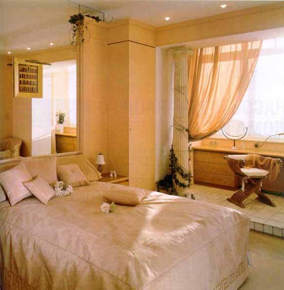 Интерьер в стиле кантри на фото демонстрирует целесообразность присоединение лоджии к комнате