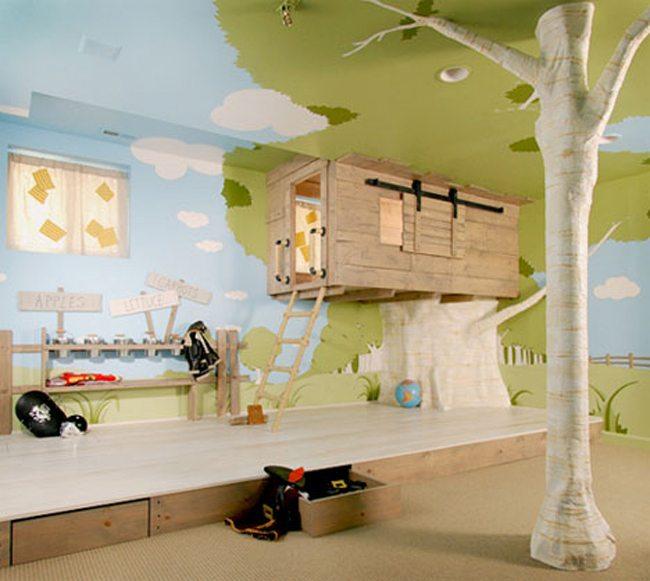 Интересная идея оформления мальчишечьих апартаментов
