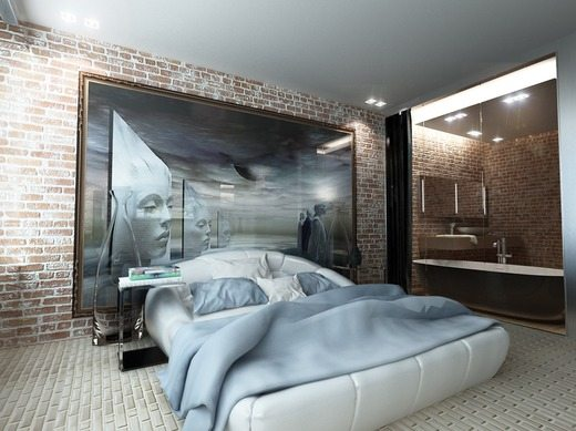 Интересное решение декора спальни