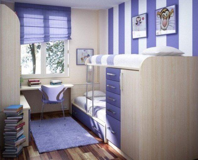 Интересный интерьер спальни для двух мальчиков: небольшая, но функциональная комната