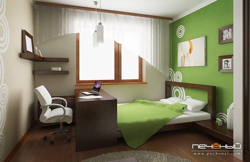 Кабинет и спальня в одной комнате – вынужденная необходимость