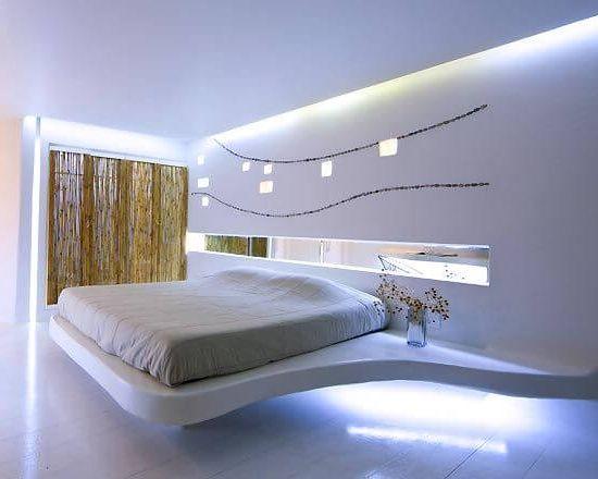 хороший пример освещения в спальне