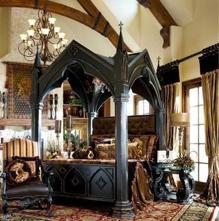 Классическая спальня королей прошлого