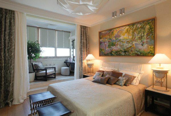 Классический дизайн небольшой спальни
