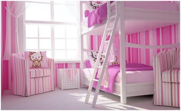 Классический дизайн в розовом цвете.