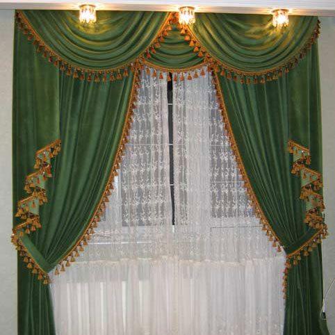 Классическое исполнение пошива штор