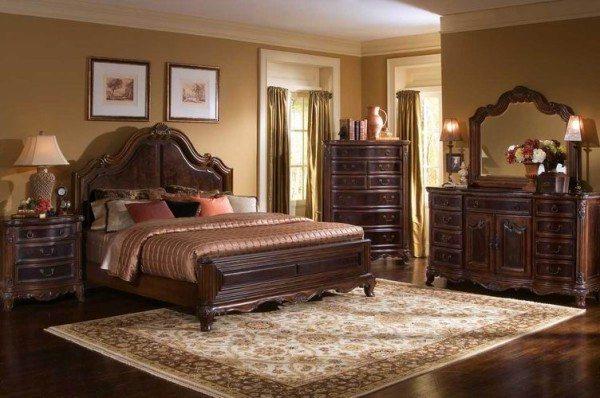 Классическое изображение спальни для сильного пола: вечность, универсальность и красота.
