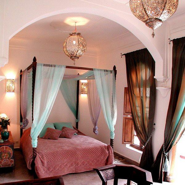 Колористика (сочетание цвета) в марокканском стиле.
