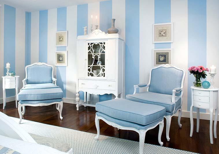 Комбинирование белого и голубого – самое популярное сочетание
