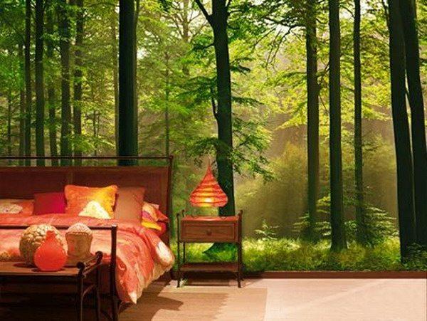 Комната отдыха буквально в чаще леса!