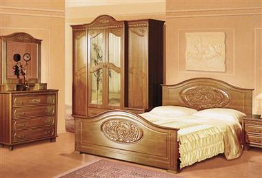 Комплект мебели для спальни в коричневых тонах
