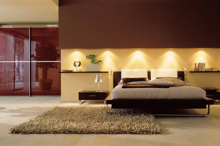 красочная идея освещения спальни с красивым дизайном
