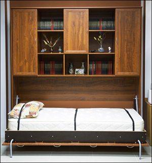 Кровать-шкаф решает множество проблем