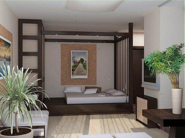 Кровать-трансформер в дизайне спальни и гостиной