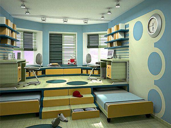 Кровать, встроенная в подиум, сохранит полезную площадь