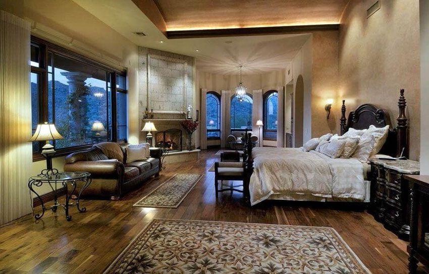 люксовая идея освещения в спальне
