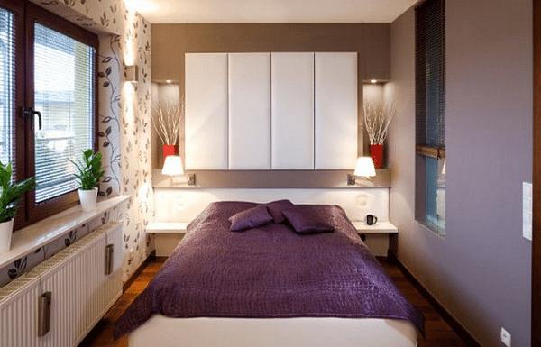 Маленькая спальня – кровать на всю комнату