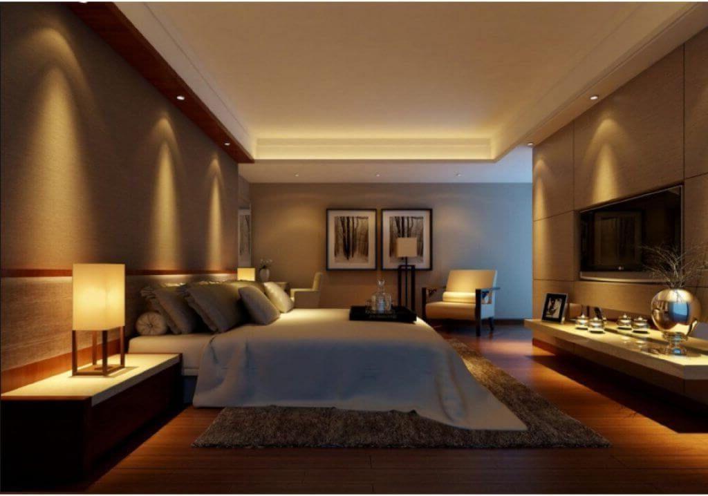 манящая температура освещения для спальни