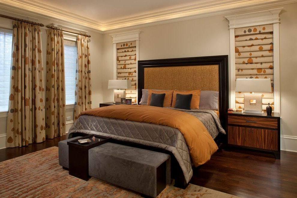 Точечный минимальный свет в спальне