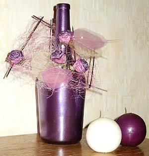 Минимум усилий, и обычная бутылка превратится в оригинальный декор