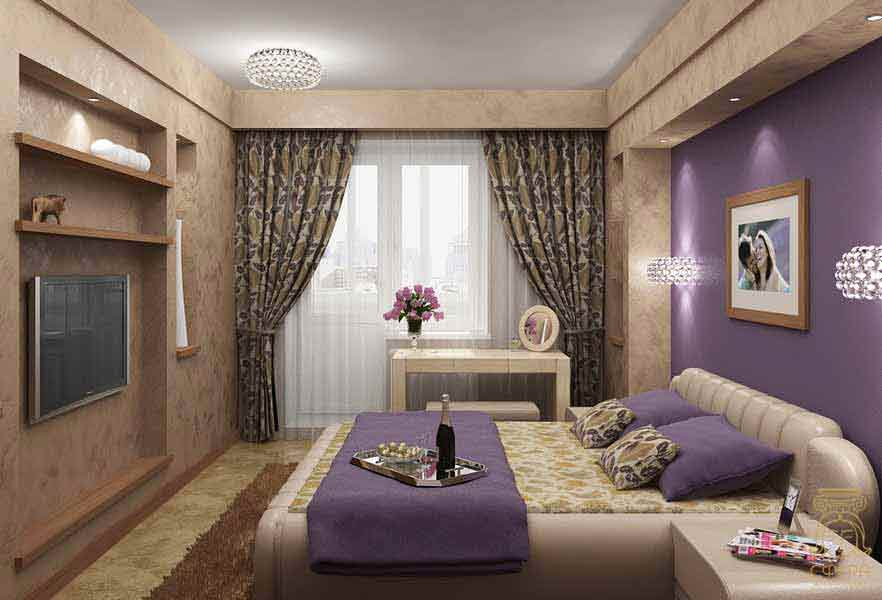 Многие из нас предпочитают лишь пару фиолетовых аккордов в комнате для сна.