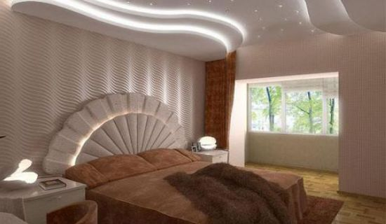 Многоуровневые системы позволяют создать атмосферу роскоши в вашей спальне
