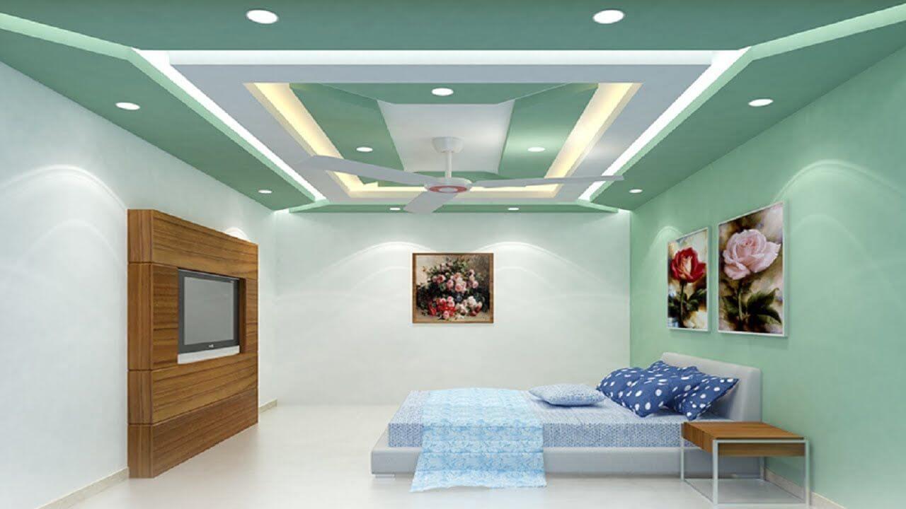 прямоугольные фигуры из гкл на потолке