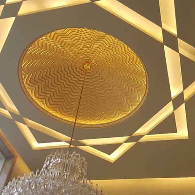 звезда на потолке в спальне сделанная из гипсокартона