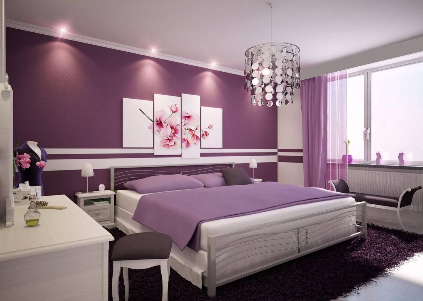 монохромный стиль освещения в спальне - один цвет много значений