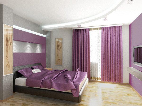 Можно, конечно, снова посетовать на телевизор, но посмотрите, как точно выдержан цветовой выбор спальни («K»)